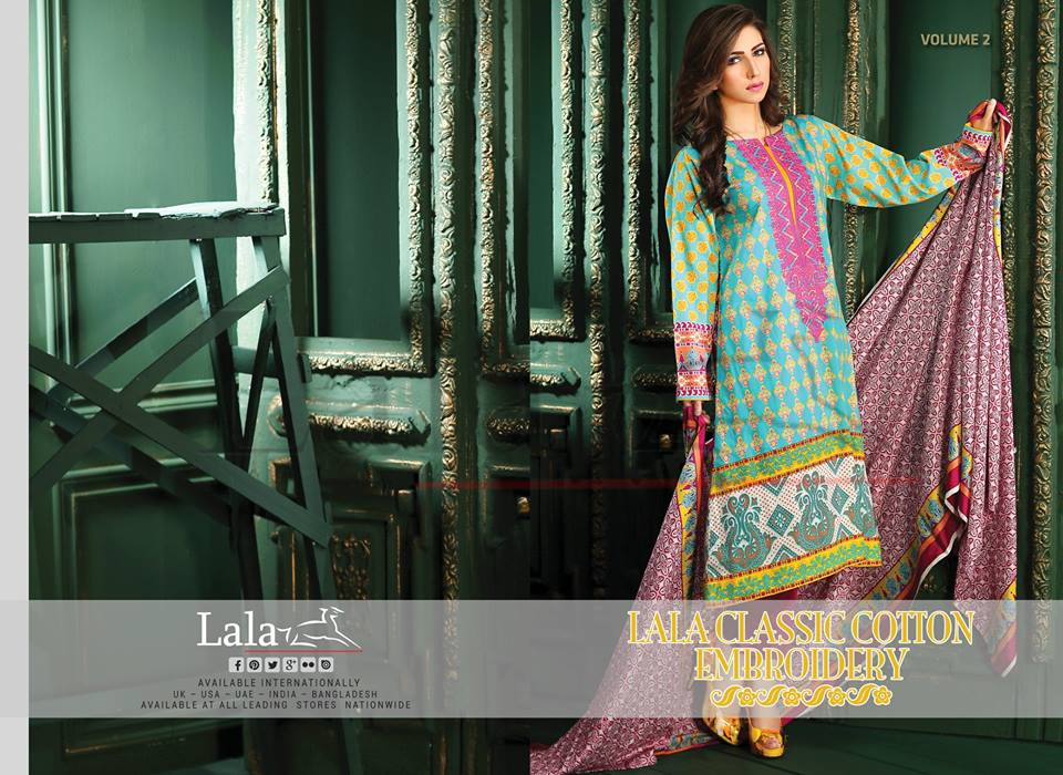 Lala Winter Embroidered Cotton-Linen Dresses 2015-2016 (29)