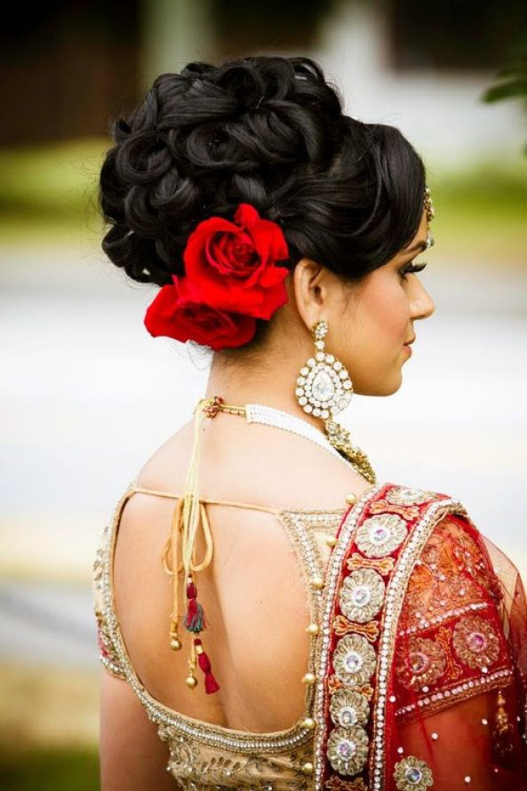 Latest Indian Bridal Wedding Hairstyles Collection 2015-2016 (33)