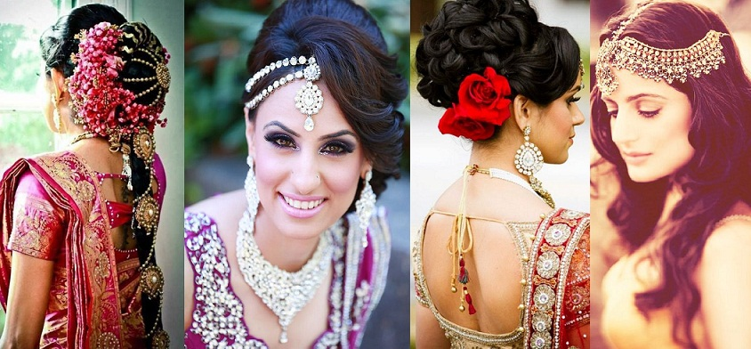 Latest Indian Bridal Wedding Hairstyles Trends 2018-2019