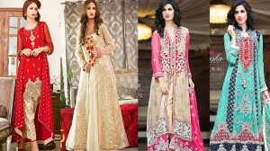 Latest Party Wear Dresses Frocks Designs Collection 2017-2018