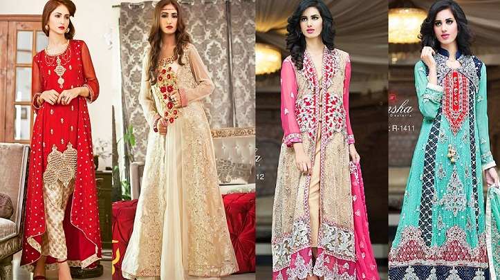 Latest Party Wear Long frocks for Ladies Collection 2019
