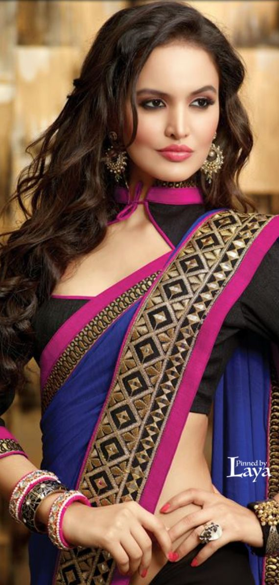 Latest Saree Neckline Designs Collection 2015-2016 (1)