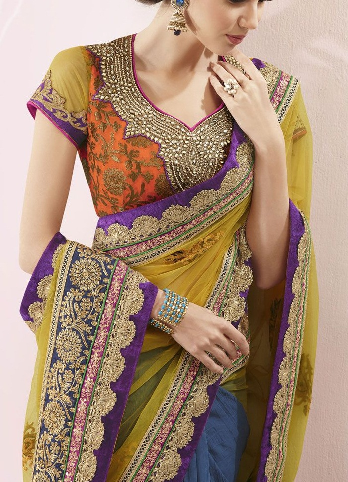 Latest Saree Neckline Designs Collection 2015-2016 (3)