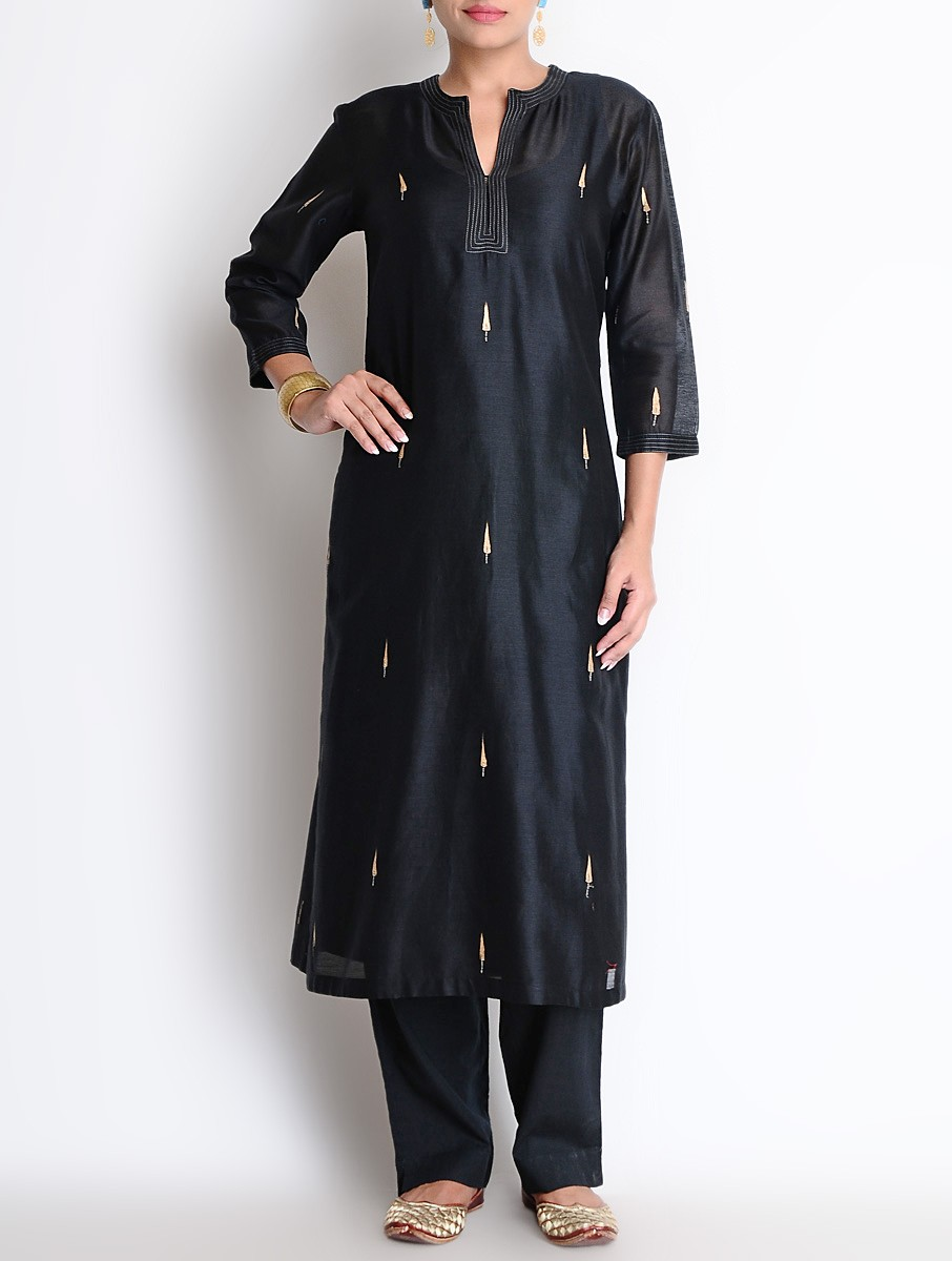 Shirt design kurti - Latest Winter Shirts Kurtis Designs Collection 2015 2016