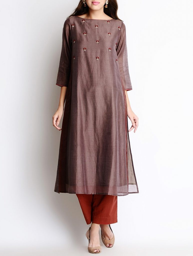 Latest Winter Shirts & Kurtis Designs Collection 2015-2016 (17)