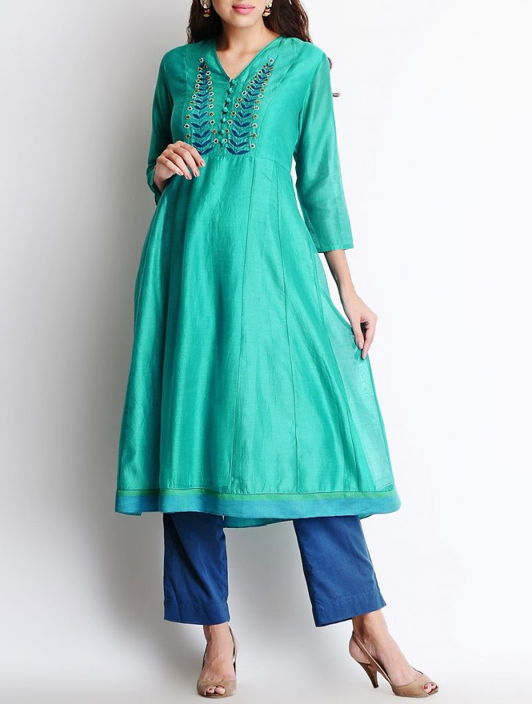 Latest Winter Shirts & Kurtis Designs Collection 2015-2016 (18)