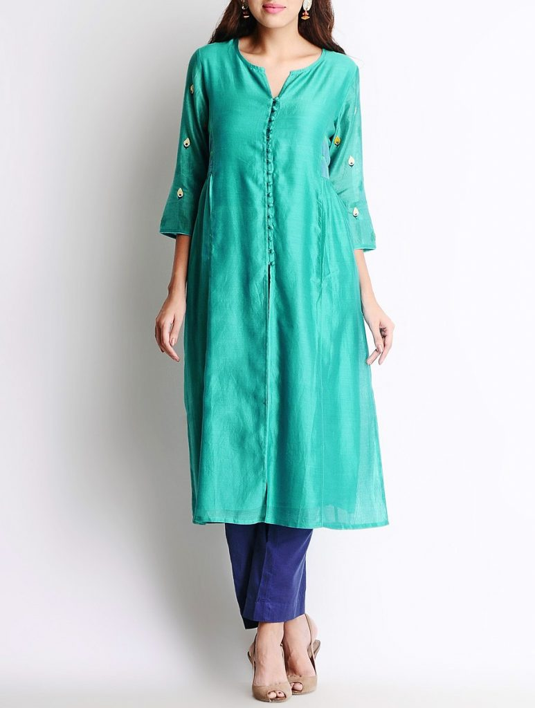 Latest Winter Shirts & Kurtis Designs Collection 2015-2016 (19)