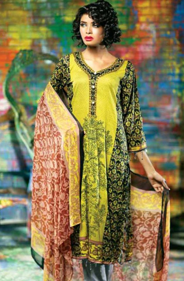 ce5285d0a2 Libas Winter Crinkle Dresses Collection 2015-2016 by Shariq Textiles (5)