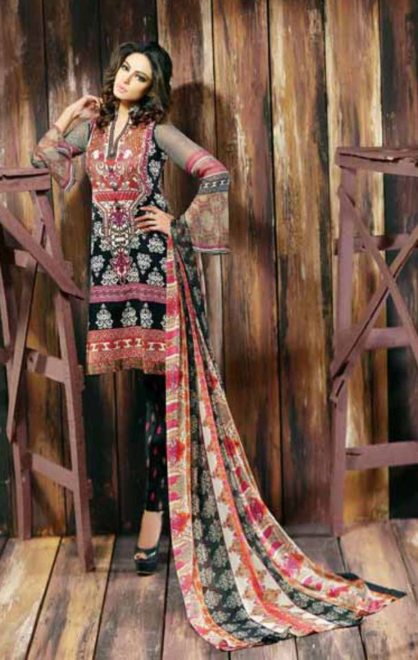 7d507ef2b4 Libas Winter Crinkle Dresses Collection 2015-2016 by Shariq Textiles (8)