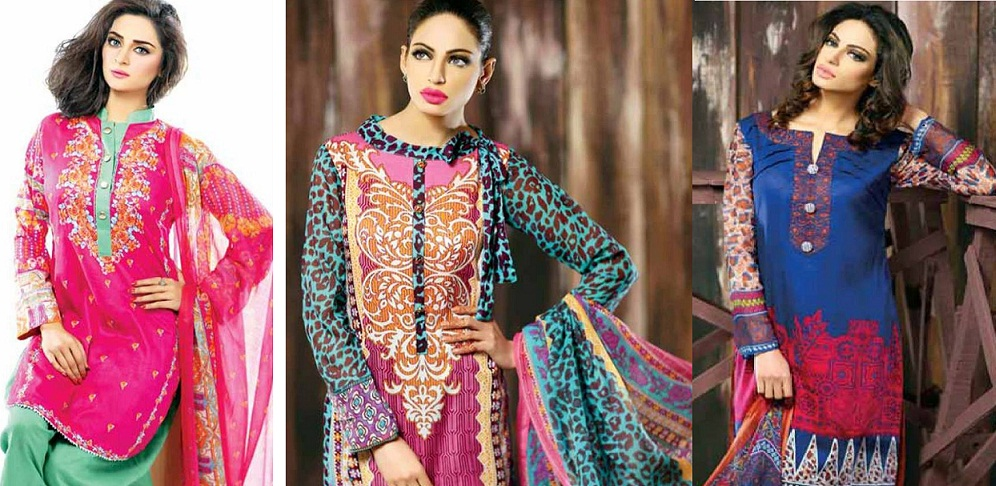 Libas Winter Crinkle Dresses Collection 2015-2016 by Shariq Textiles