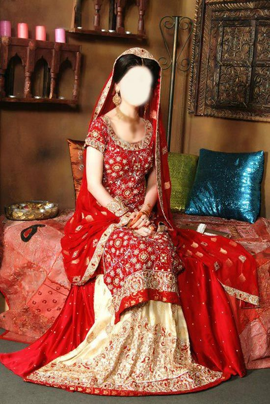 Pakistani Asian Bridal Wedding Sharara Dresses