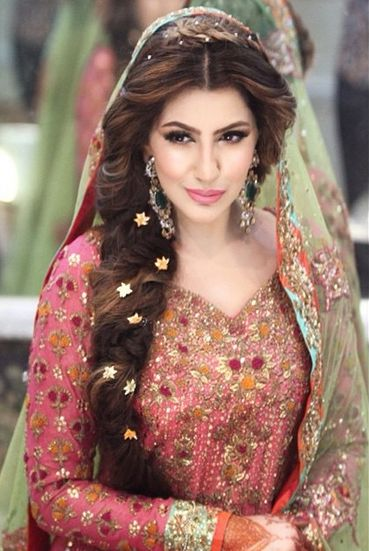Hairstyle Wedding : Latest Pakistani Bridal Wedding Hairstyles Trends 2016-2017