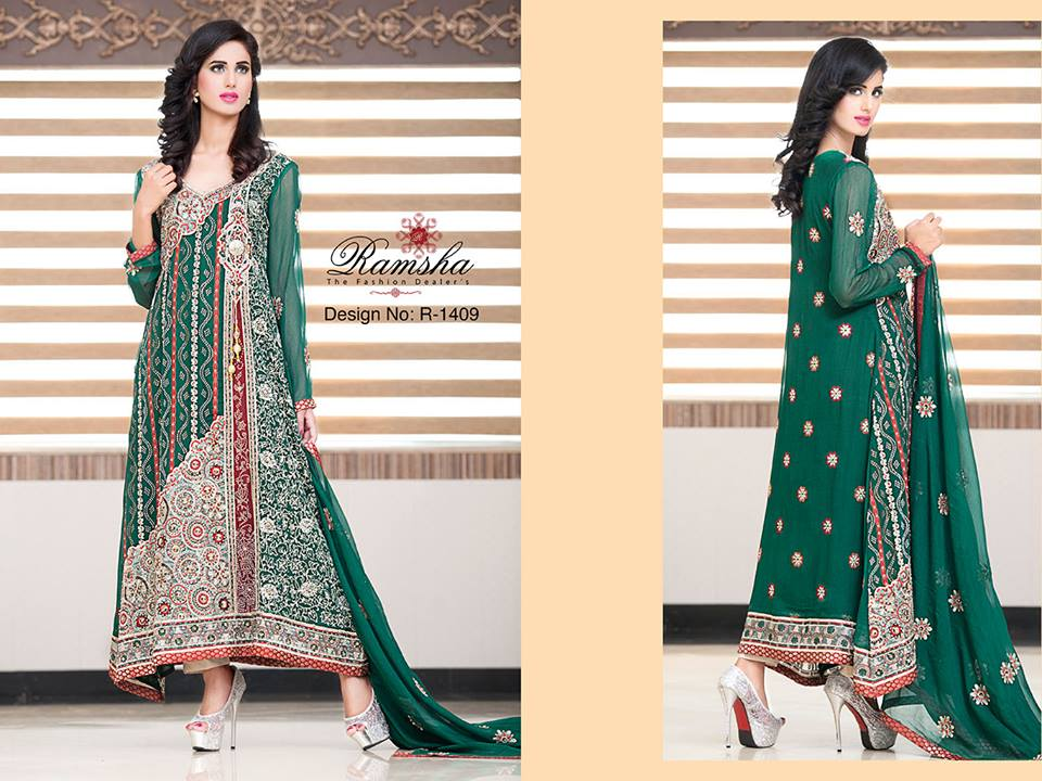 Pakistani Party Wear Frocks & dresses 2015-2016 (10)