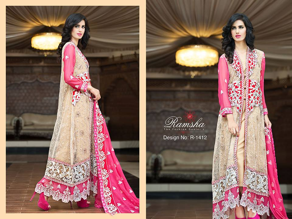 Pakistani Party Wear Frocks & dresses 2015-2016 (11)