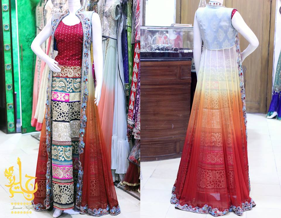 Pakistani Party Wear Frocks & dresses 2015-2016 (14)