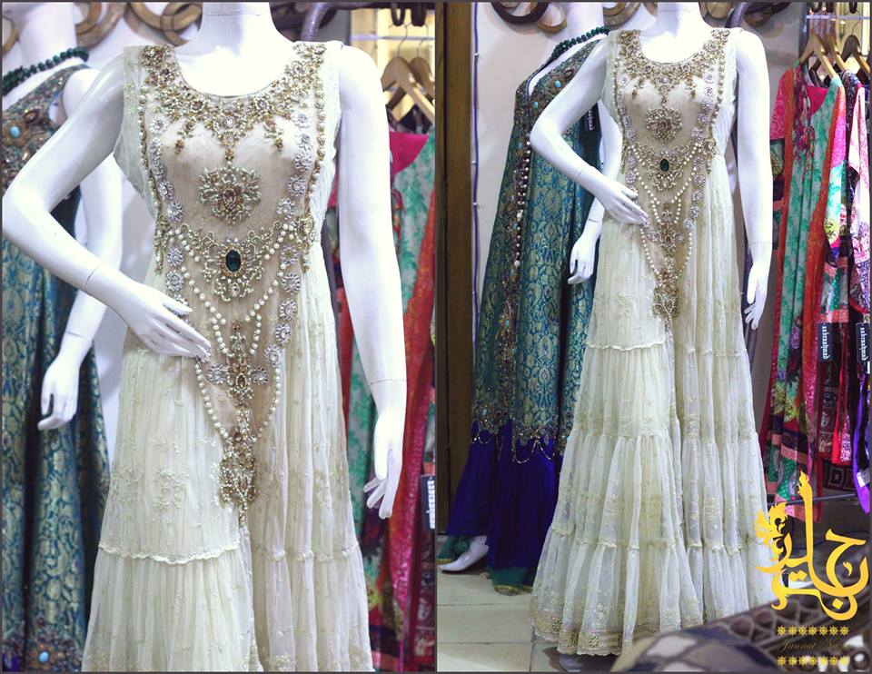 Pakistani Party Wear Frocks & dresses 2015-2016 (15)