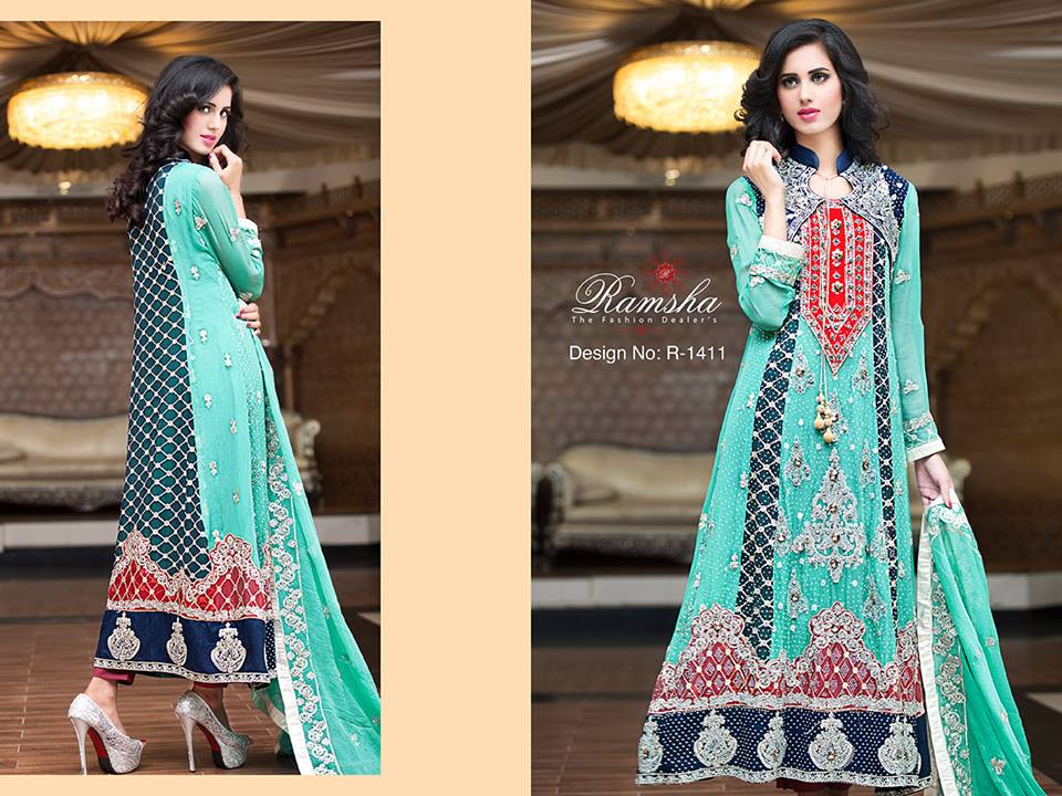 Pakistani Party Wear Frocks & dresses 2015-2016 (17)