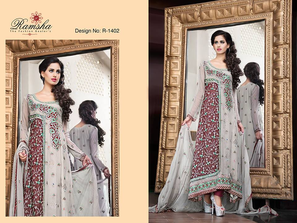 f5142e891 Latest Party Wear Long frocks for Ladies Collection 2019-2020