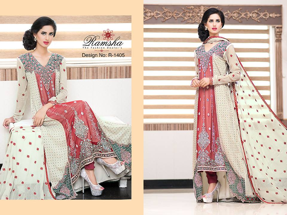 Pakistani Party Wear Frocks & dresses 2015-2016 (3)