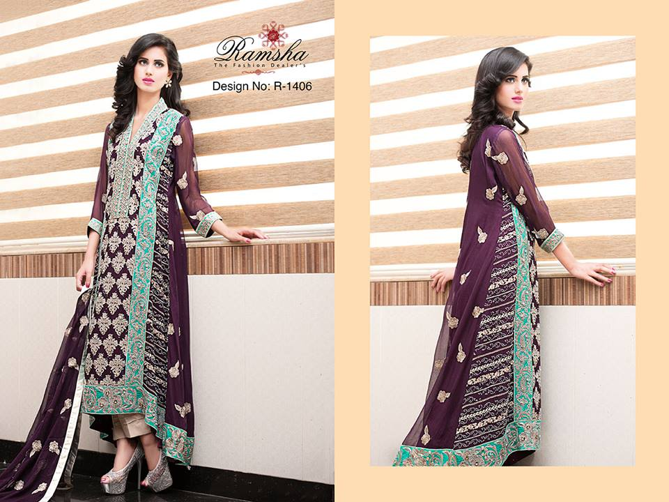 Pakistani Party Wear Frocks & dresses 2015-2016 (4)