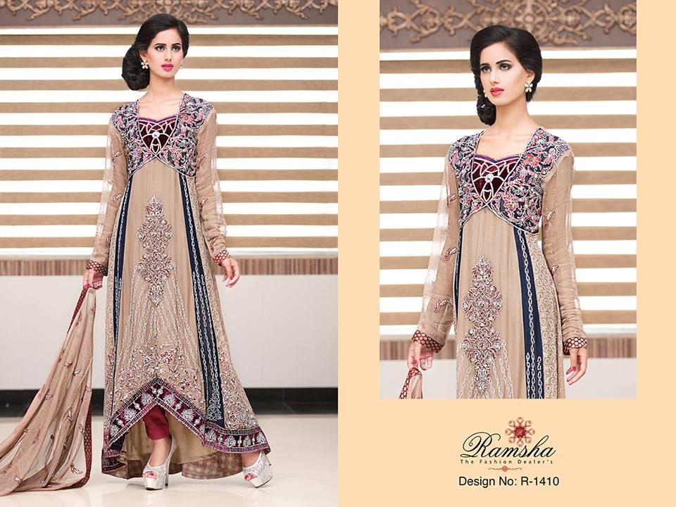 Pakistani Party Wear Frocks & dresses 2015-2016 (6)