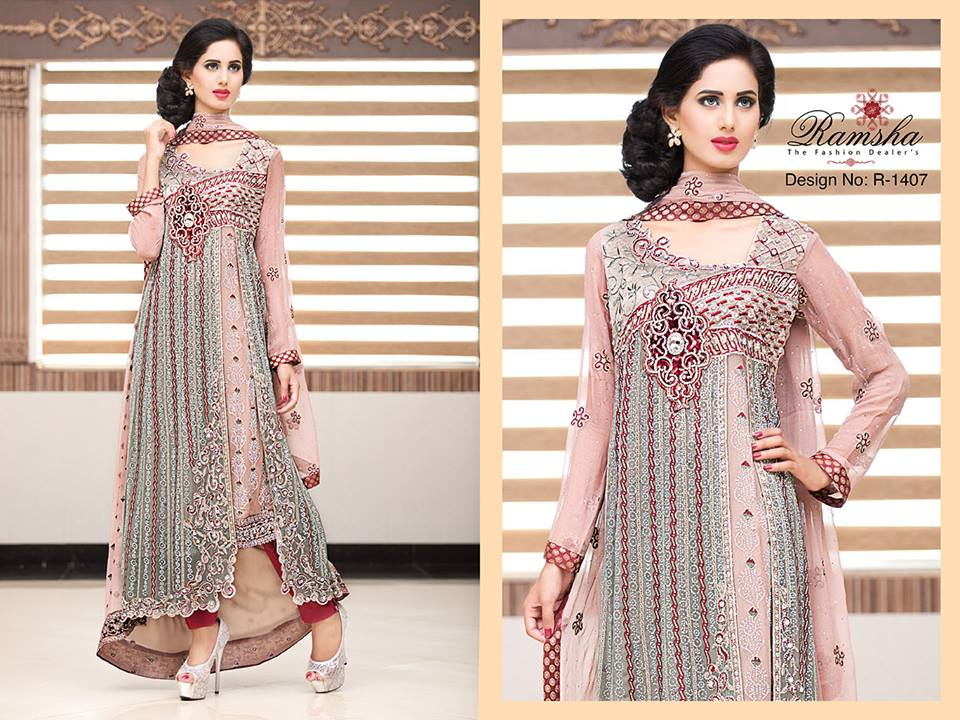 Pakistani Party Wear Frocks & dresses 2015-2016 (9)