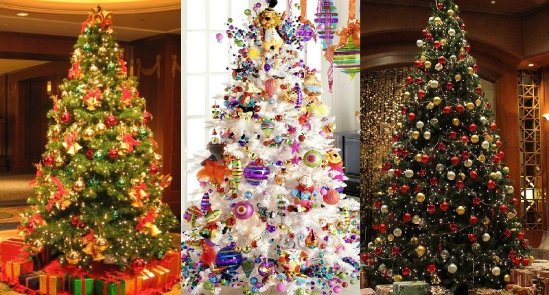 Best easy christmas tree decorating ideas 2015 2016 Over the top christmas tree decorations