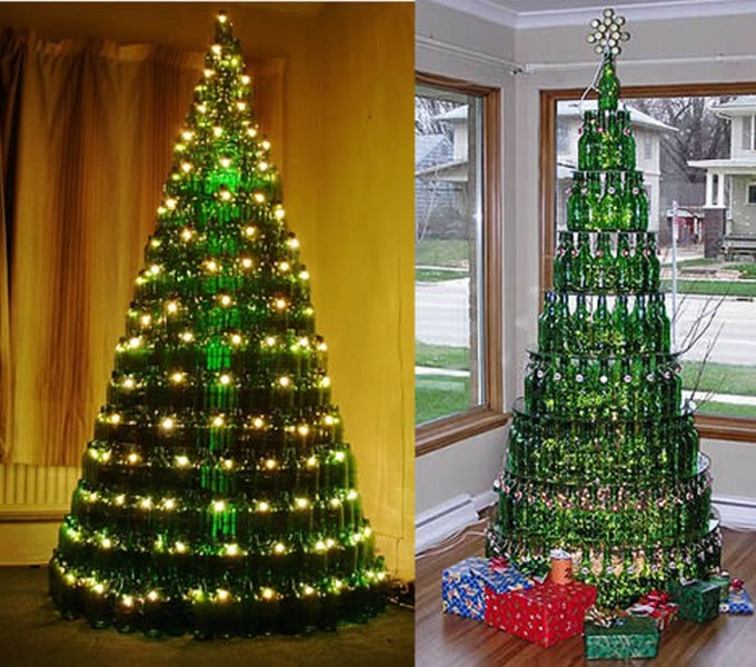 green bottle Christmas tree_680x600
