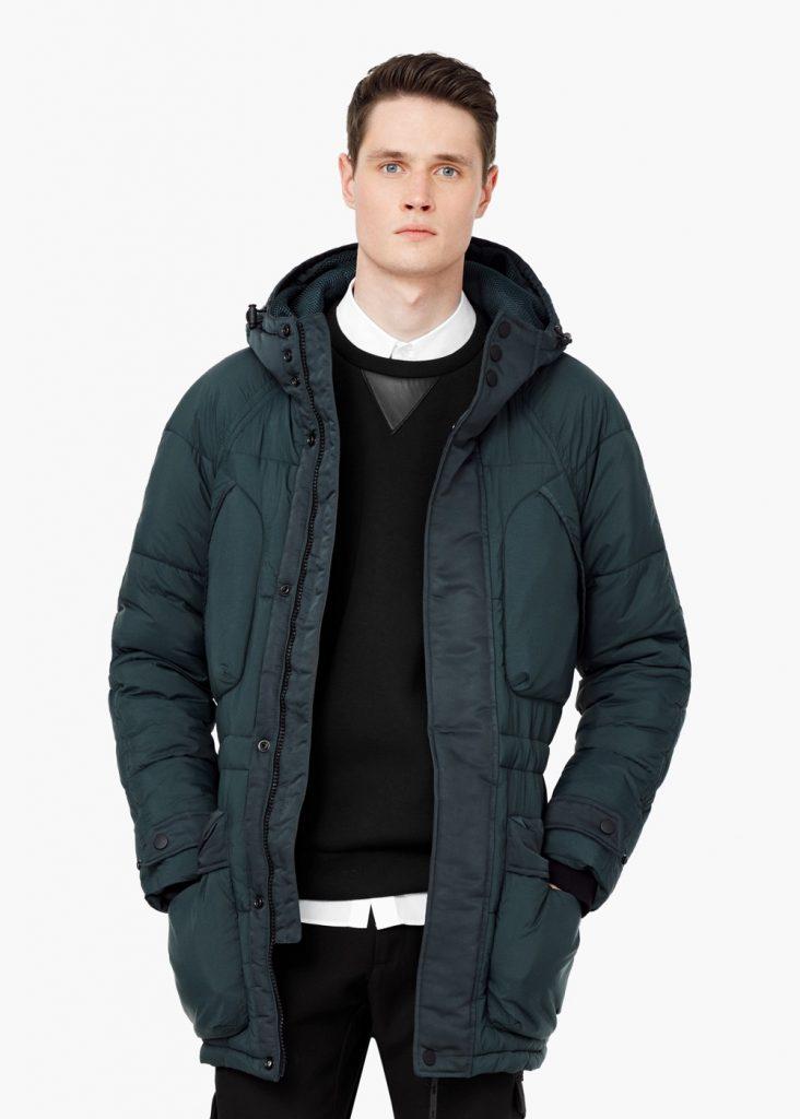 hooded water repellent coat