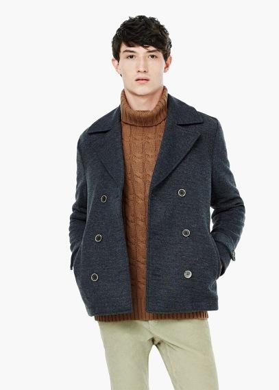 wool knit peacoat