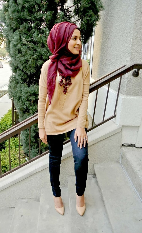 Casual Wear Hijab Styles with Jeans Trends 2016-2017 (10)