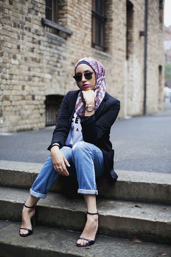 Casual Wear Hijab Styles with Jeans Trends 2016-2017 (13)