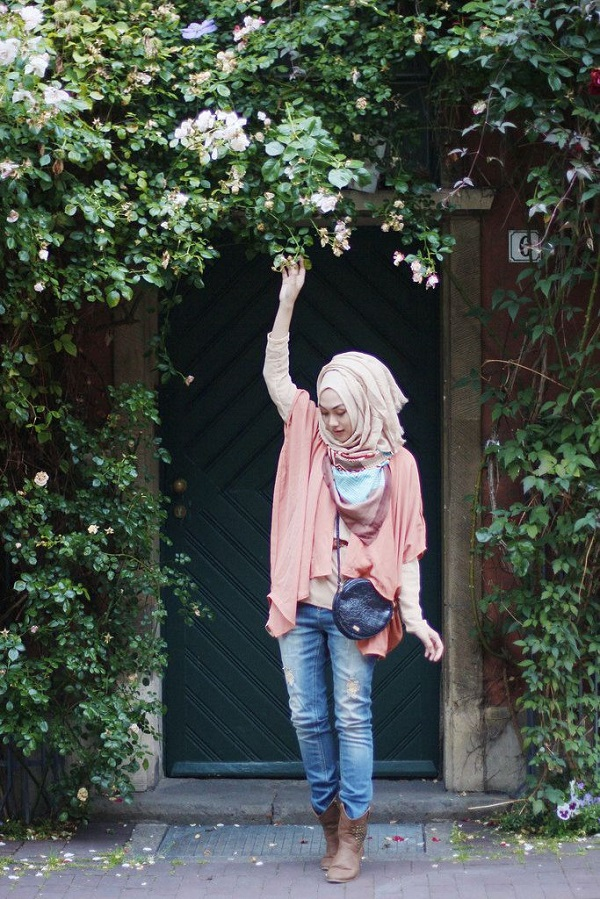 Casual Wear Hijab Styles with Jeans Trends 2016-2017 (15)