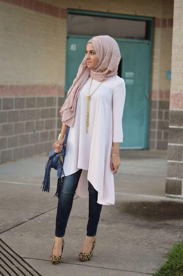 Casual Wear Hijab Styles with Jeans Trends 2016-2017 (16)