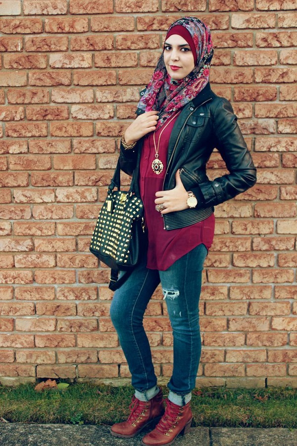 Casual Wear Hijab Styles with Jeans Trends 2016-2017 (18)