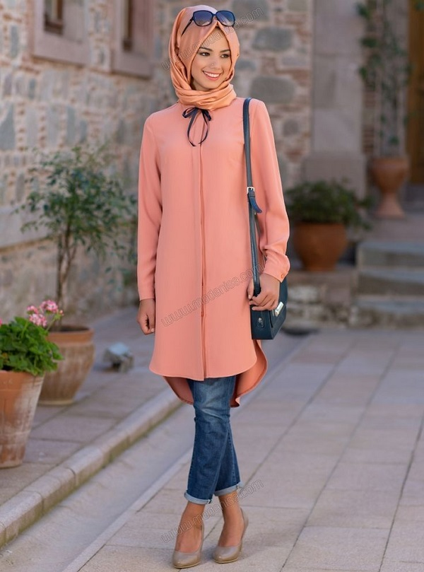 Casual Wear Hijab Styles with Jeans Trends 2016-2017 (2)