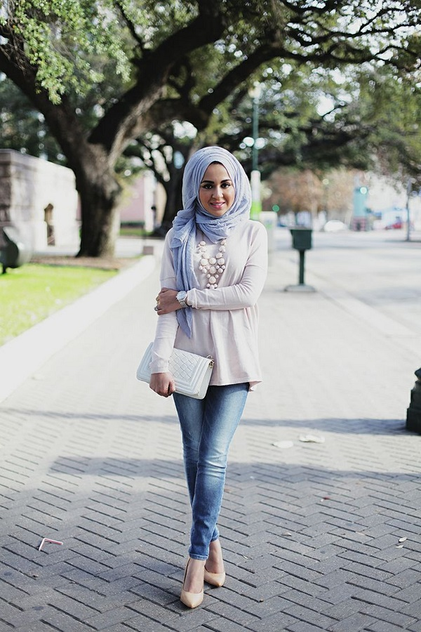 Casual Wear Hijab Styles with Jeans Trends 2016-2017 (20)