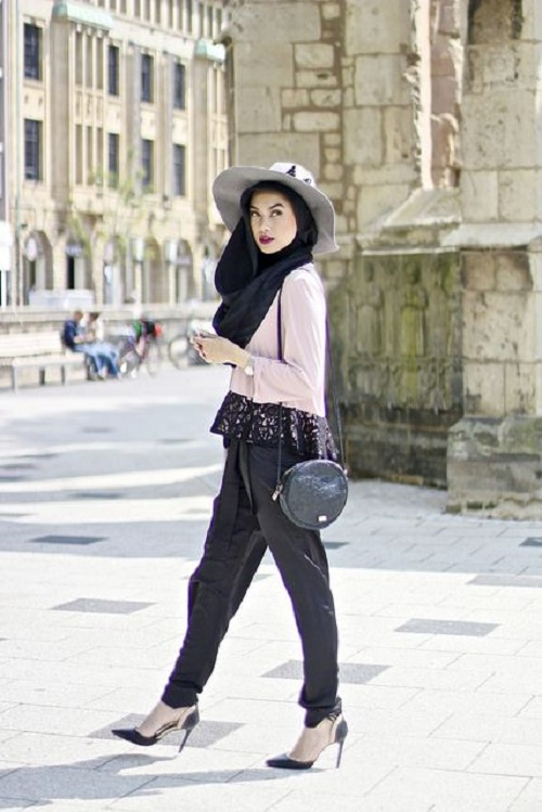 Casual Wear Hijab Styles with Jeans Trends 2016-2017 (22)