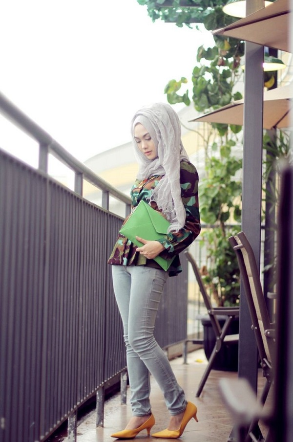 Casual Wear Hijab Styles with Jeans Trends 2016-2017 (24)