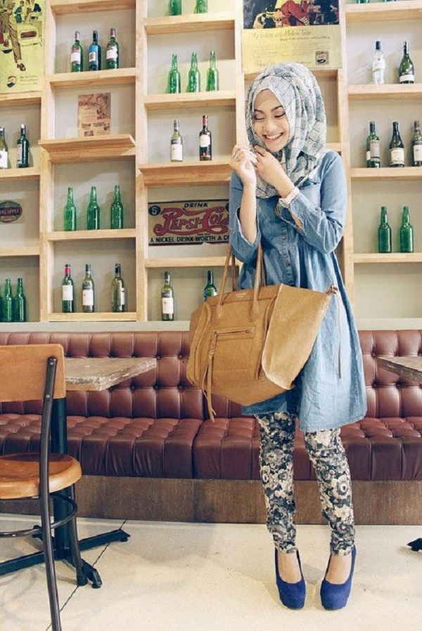Casual Wear Hijab Styles with Jeans Trends 2016-2017 (25)