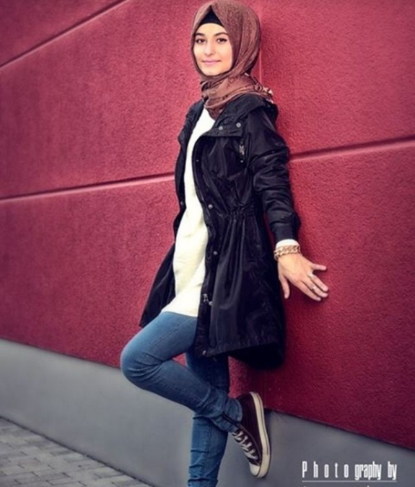Casual Wear Hijab Styles with Jeans Trends 2016-2017 (26)