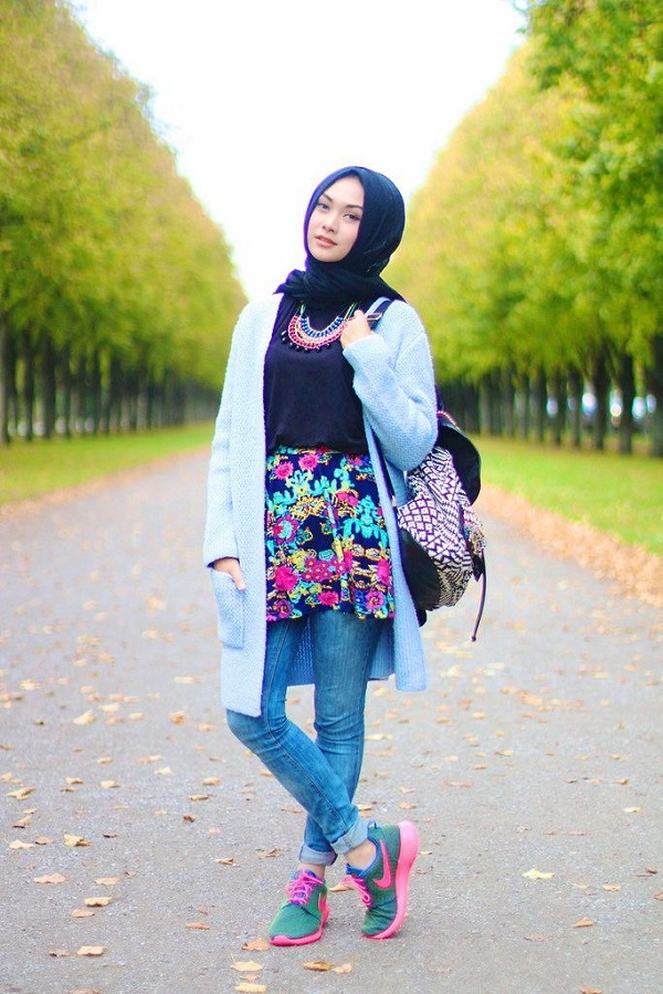 Casual Wear Hijab Styles with Jeans Trends 2016-2017 (27)