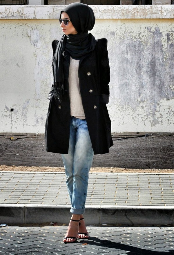 Casual Wear Hijab Styles with Jeans Trends 2016-2017 (3)