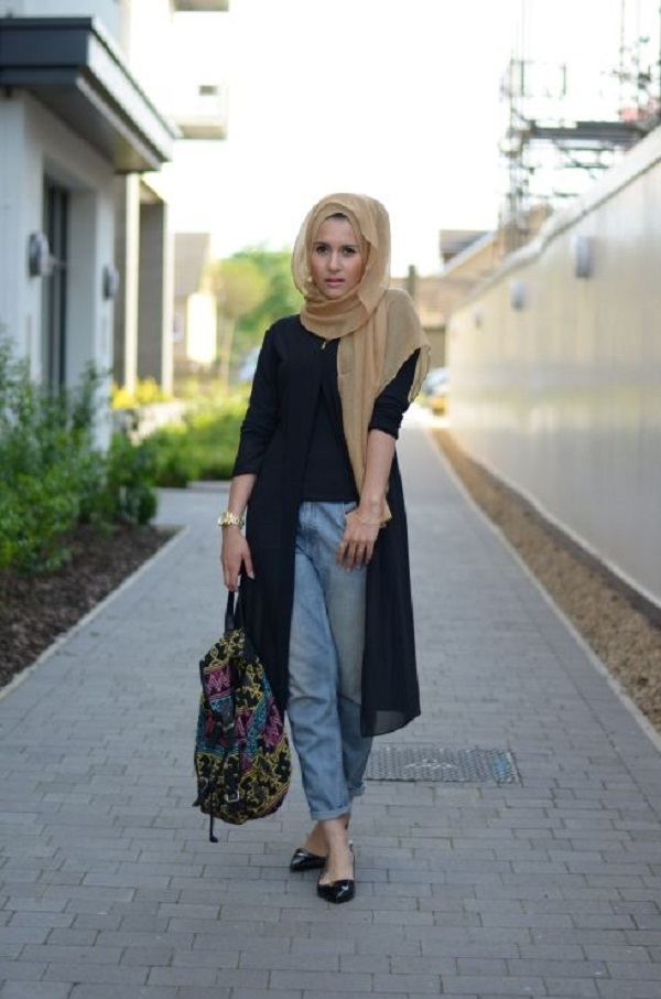 Casual Wear Hijab Styles with Jeans Trends 2016-2017 (4)