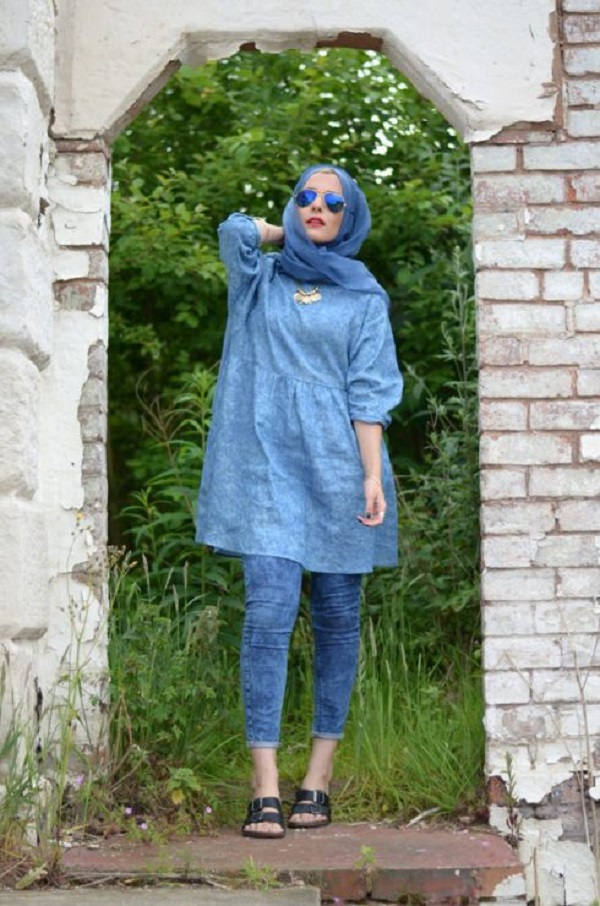 Casual Wear Hijab Styles with Jeans Trends 2016-2017 (6)