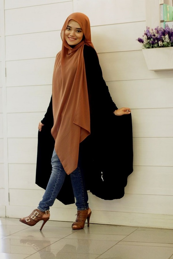 Casual Wear Hijab Styles with Jeans Trends 2016-2017 (7)