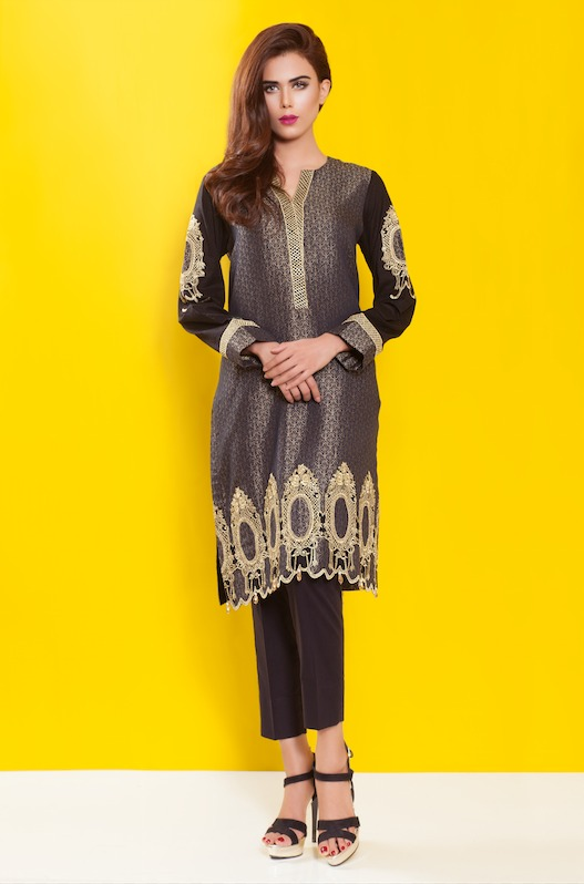 Cross Stitch Winter Printed & Embroidered Dresses Collection 2015-2016 (1)