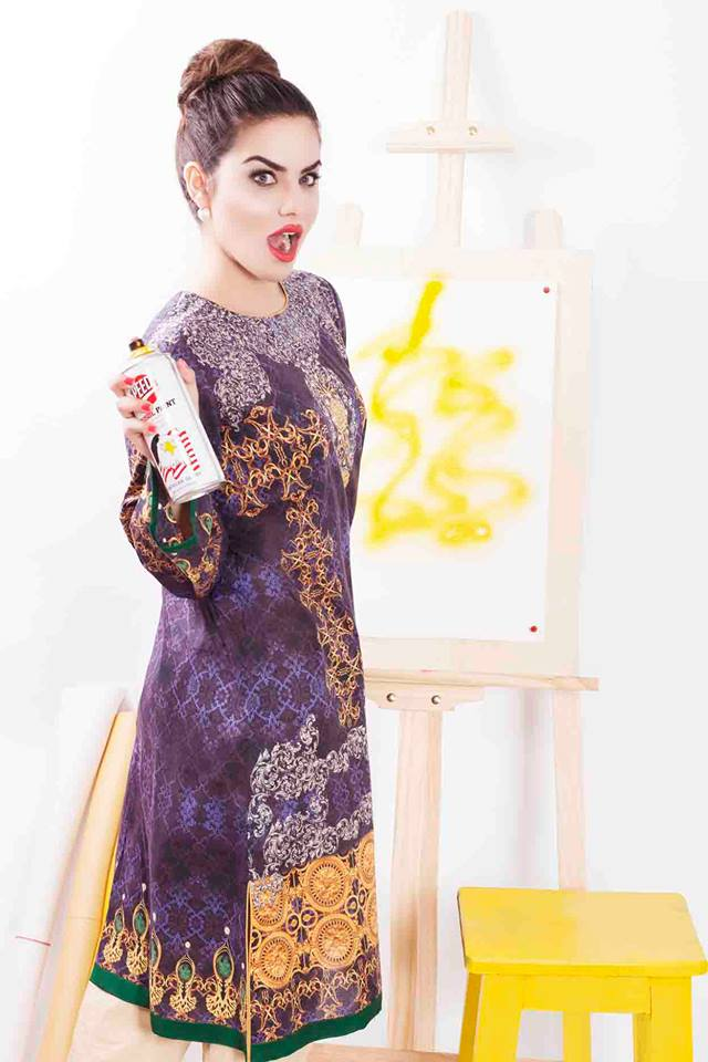 Cross Stitch Winter Printed & Embroidered Dresses Collection 2015-2016 (10)