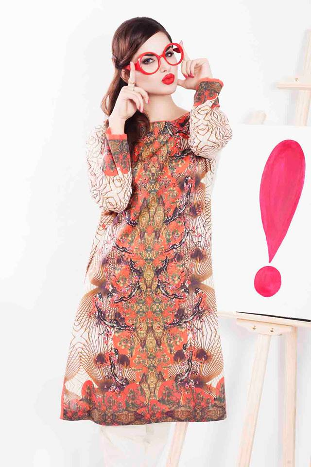 Cross Stitch Winter Printed & Embroidered Dresses Collection 2015-2016 (11)