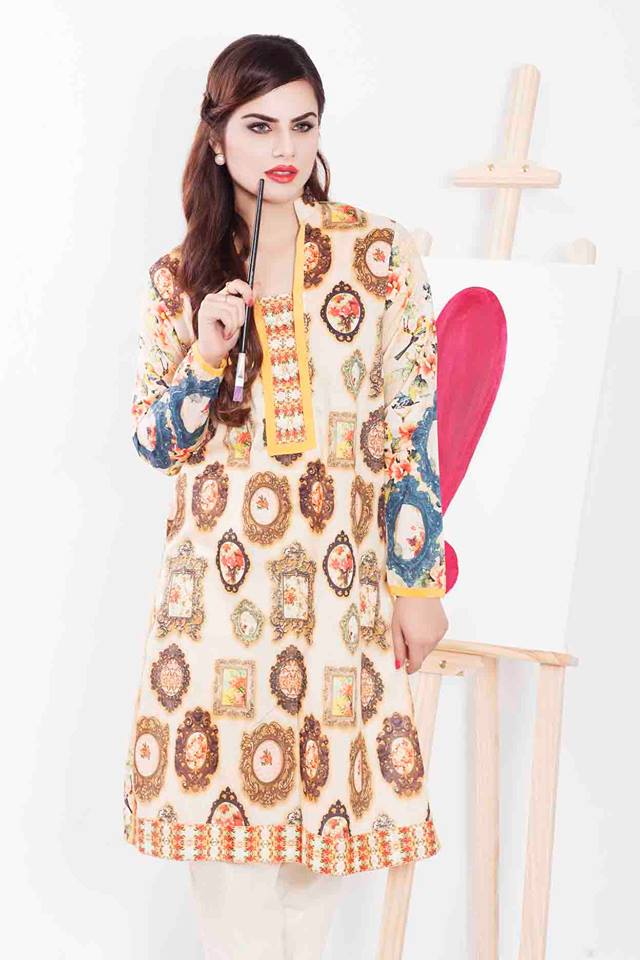 Cross Stitch Winter Printed & Embroidered Dresses Collection 2015-2016 (2)